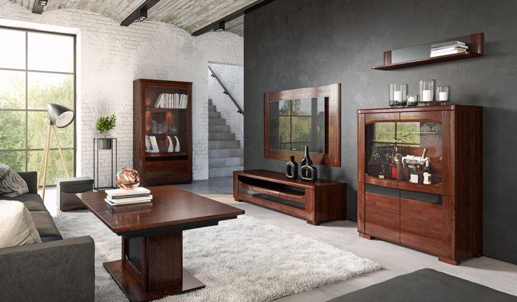 Salon w stylu postindustrialnym